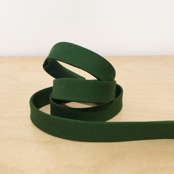 "Bias Tape in Kona Basil green cotton 1/2"" double-fold binding- 3 yard roll"