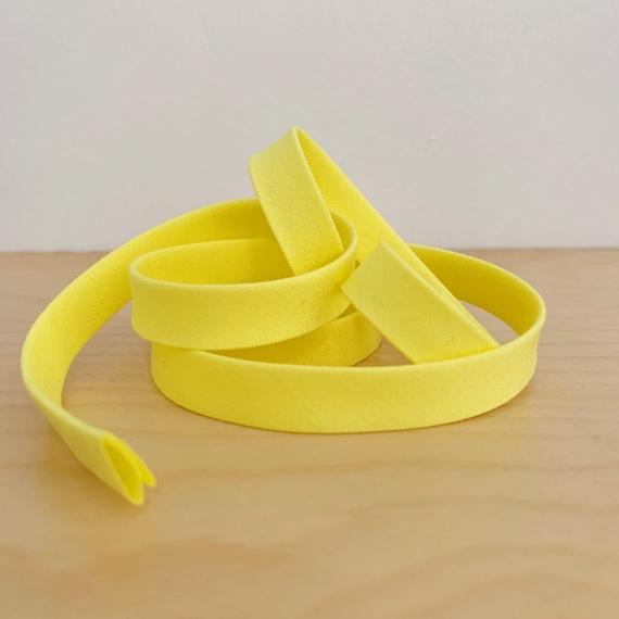 "Bias Tape- Kona Highlight Yellow 1/2"" double-fold cotton binding- Neon- 3 yard roll"
