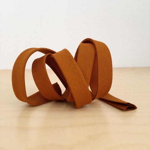"Bias Tape- Cotton Supreme Solids Bronze 1/2"" double-fold cotton binding- caramel- 3 yard roll"