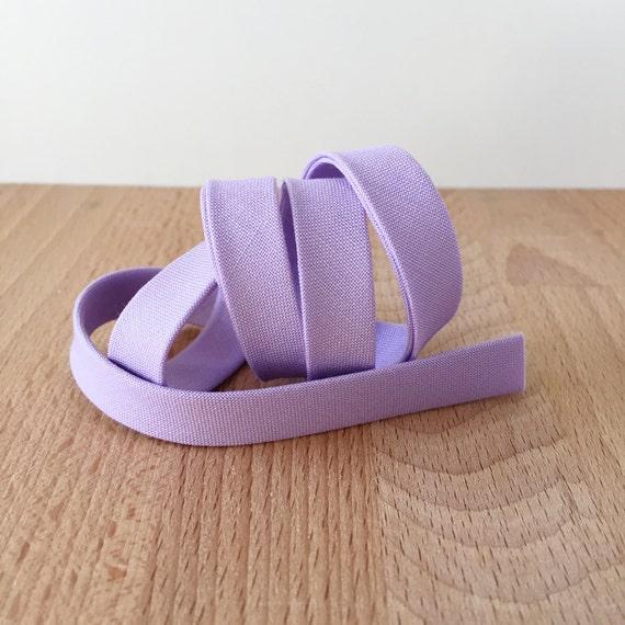 "Bias Tape in Kona Thistle Pastel lavender purple cotton 1/2"" double-fold binding- 3 yard roll"