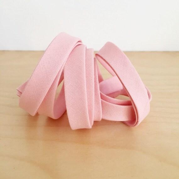 "Bias Tape in Kona Bellini Pink cotton 1/2"" double-fold binding- 3 yard roll"