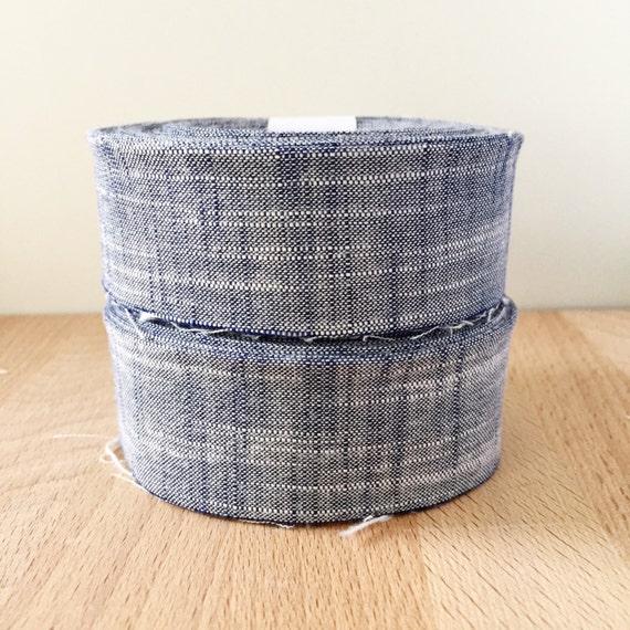 """Quilt Binding- Robert Kaufman Manchester Chambray in Indigo Blue Denim 1.25"""" double-fold cotton quilt binding"""
