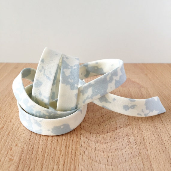"Bias Tape- April Rhodes Observer Stone Wash Cloudy 1/2"" double-fold cotton binding- 3 yard roll"