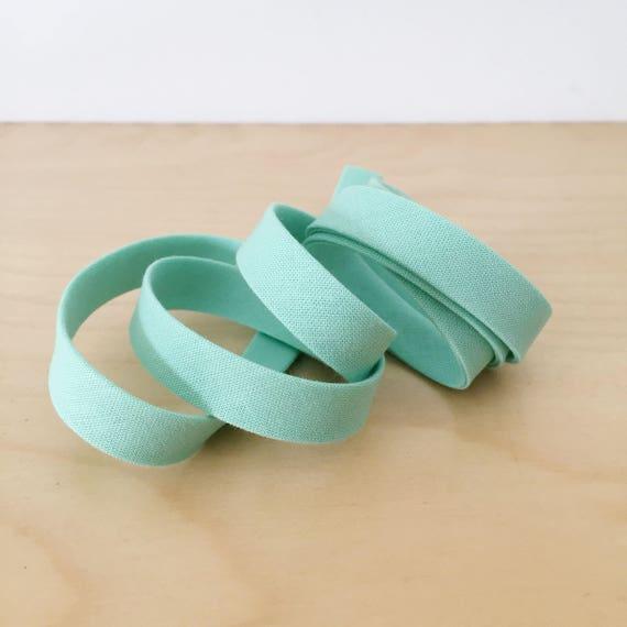 "Bias Tape in Kona Pond cotton 1/2"" double-fold binding- Mint green blue- 3 yard roll"