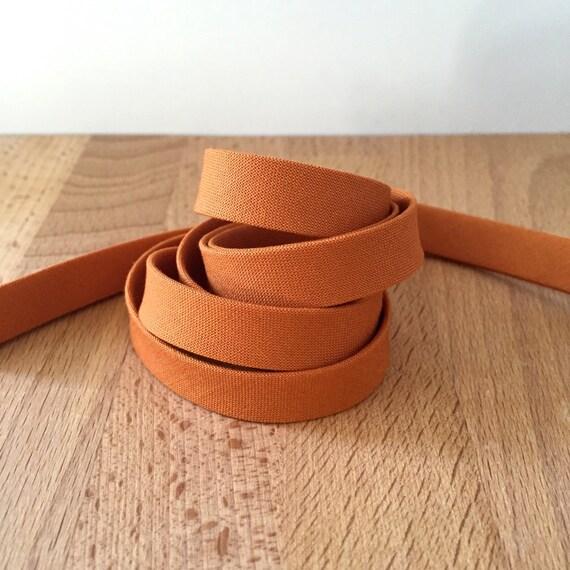 "Bias Tape in Kona Cedar cotton 1/2"" double-fold binding- Sweet Potato/Pumpkin/Orange/Caramel- 3 yard roll"