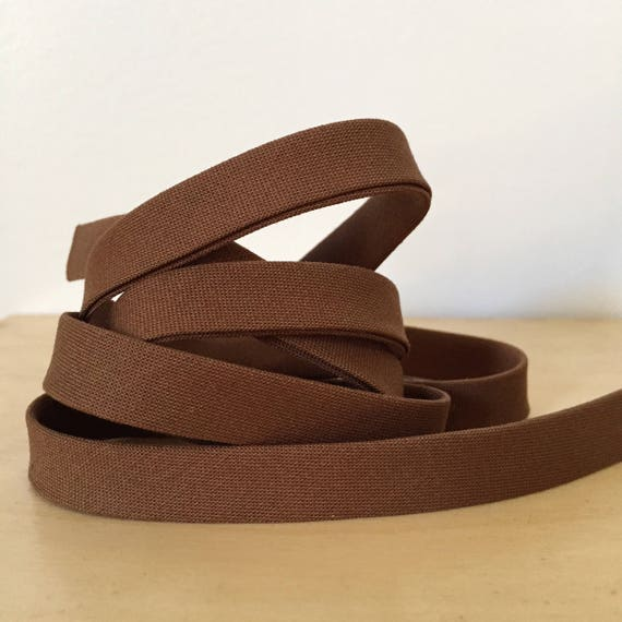 "Bias Tape in Kona Sable cotton 1/2"" double-fold binding- Milk Chocolate Brown- 3 yard roll"