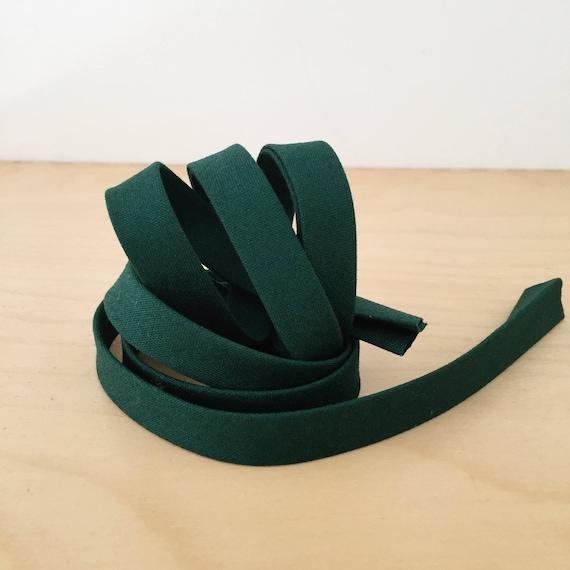 "Bias Tape in Kona Spruce cotton 1/2"" double-fold binding- Christmas forest green- 3 yard roll"