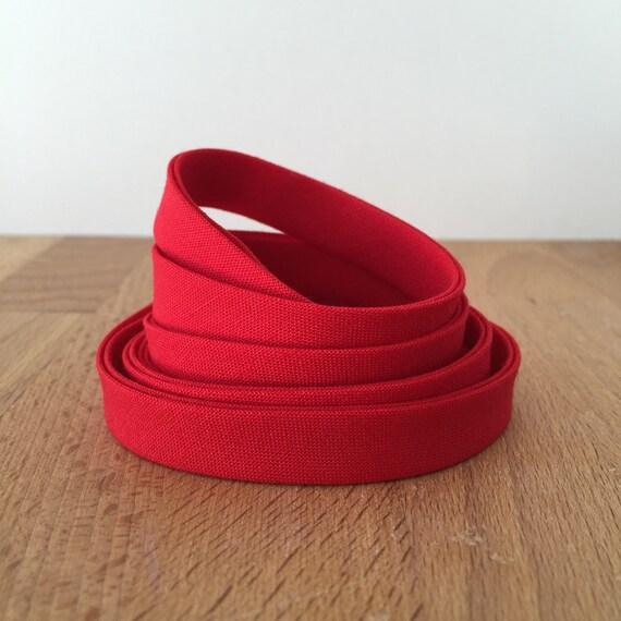"Bias Tape in Kona Lipstick Red cotton 1/2"" double-fold binding- 3 yard roll"