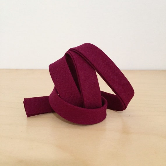 "Bias Tape in Kona Bordeaux cotton 1/2"" double-fold binding- purple berry wine- 3 yard roll"