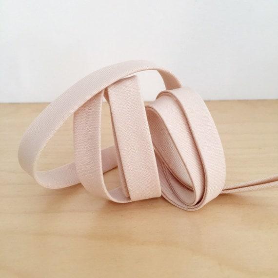 "Bias Tape in Kona Lingerie cotton 1/2"" double-fold binding- Light taupey pink- 3 yard roll"