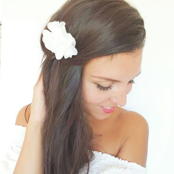 Verheiratete Elfenbeinweiss Blumen Haare Kammen Haare Etsy