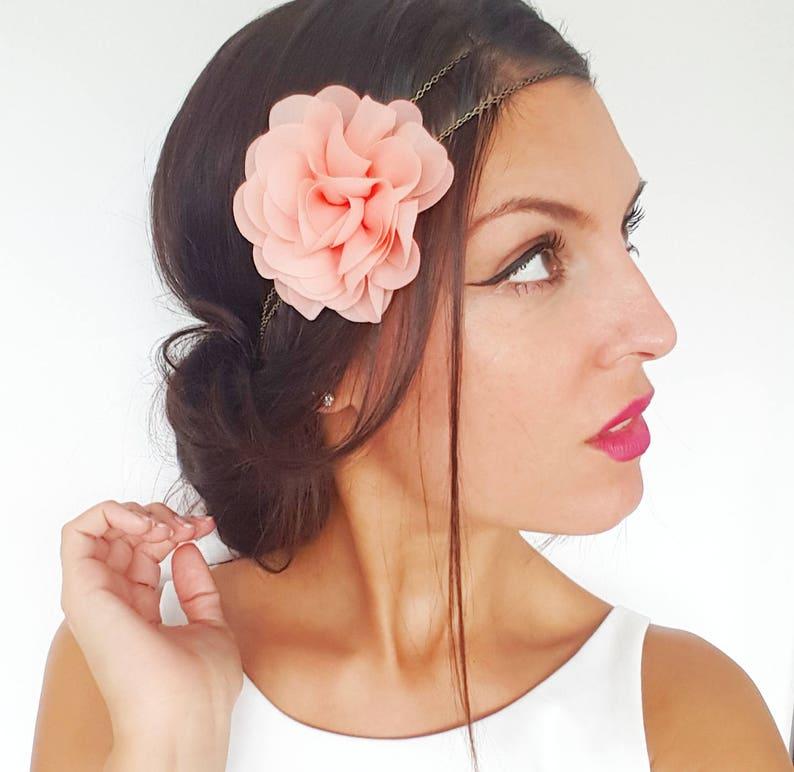 vintage Corail demoiselle d/'honneur mariée rose poudré épingles à cheveux Rose cheveux fleurs Festival