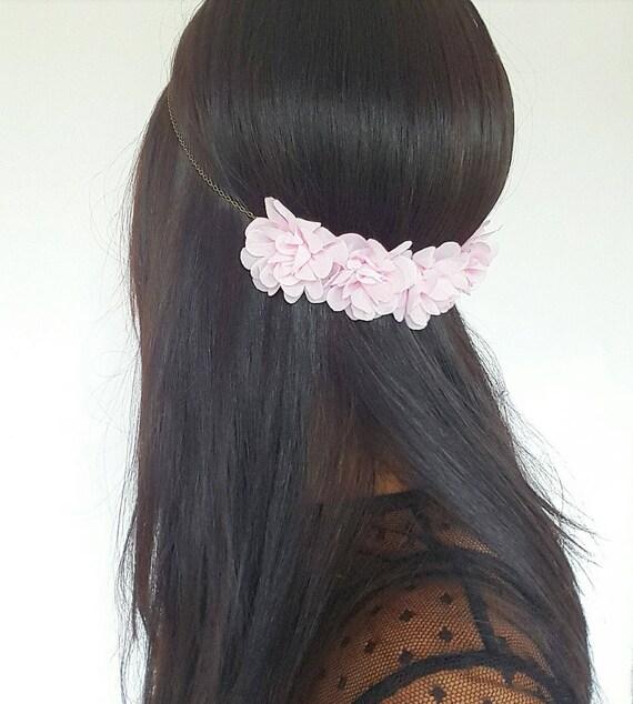 Accessory Bridal Hair Flowers Light Pink Hair Flowers Wedding Etsy