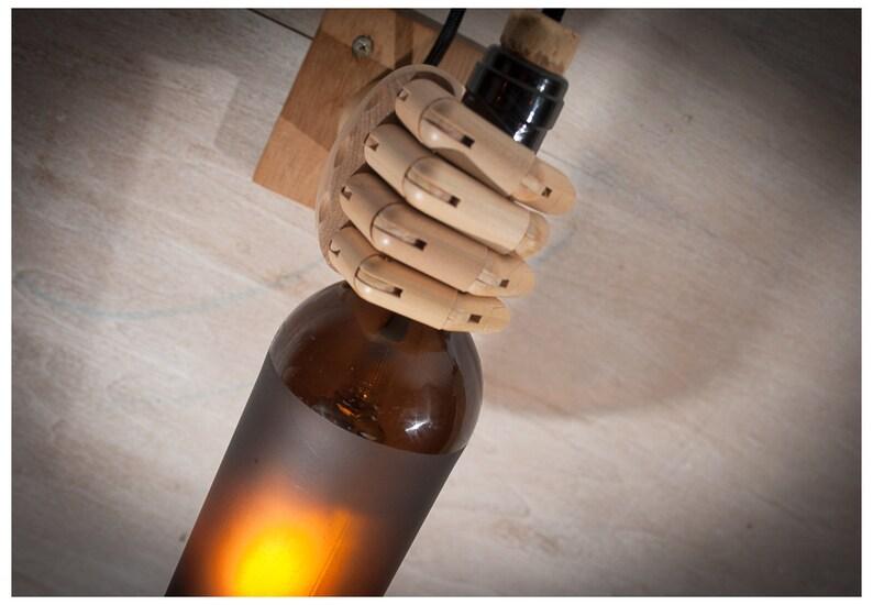 Marrone chiaro di bottiglia di vino applique da parete etsy