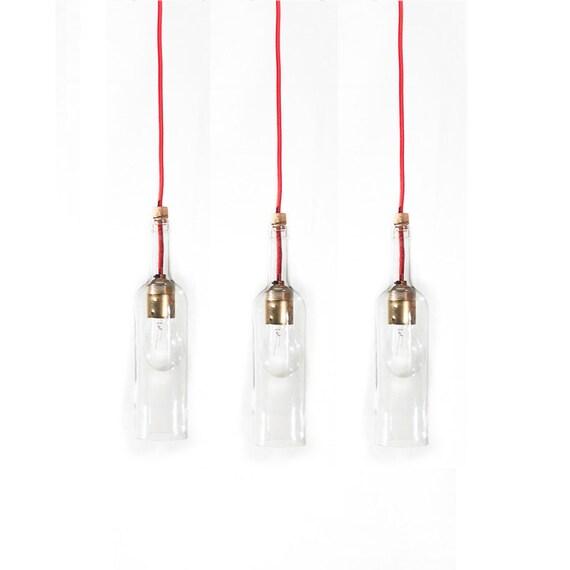 Dreifach Pendelleuchte Weiße Flasche Flasche Wein Lampe | Etsy