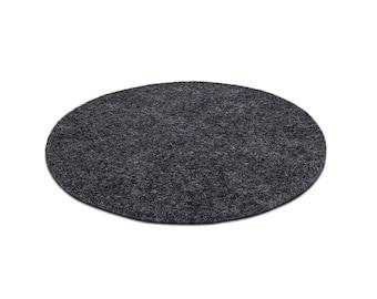 Sitzkissen aus Filz - graphit - 100% Schurwolle - handgewalkt - Ø 35 cm / Ø 40 cm