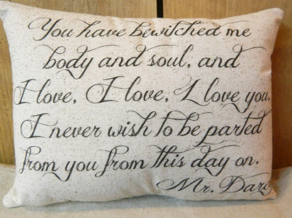Mr darcy pillow | Etsy