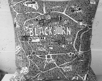Blackburn Doodle carte coussin