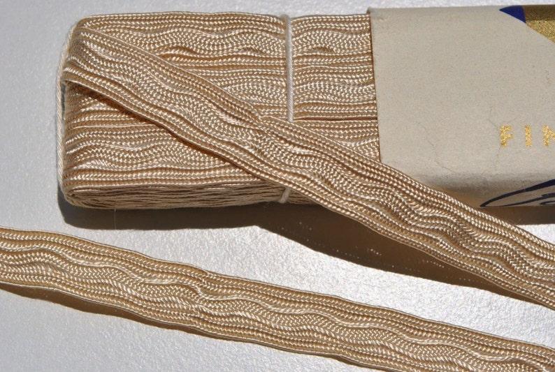 superb vintage 1950s Braid ecru millinery Finest Quality ribbon trim edging 1 meter 10 mm wide
