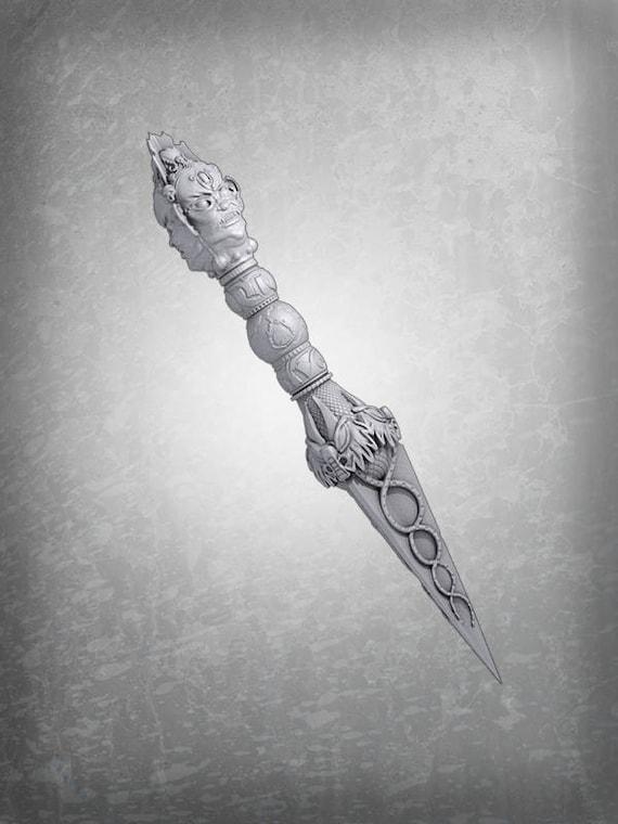 Uncharted 2 Phurba Dagger 3d Printing Digital Download Etsy