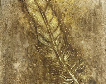 Feather Canvas Old Gold