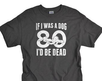 80th Birthday Gift Tshirt 80 Year Old Shirt Ideas T Tee Eighty Men For Dad