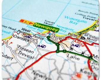 Newquay Map Coasters