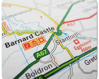 Barnard Castle Map Coasters
