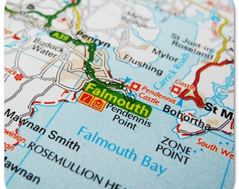 Falmouth Map Coasters