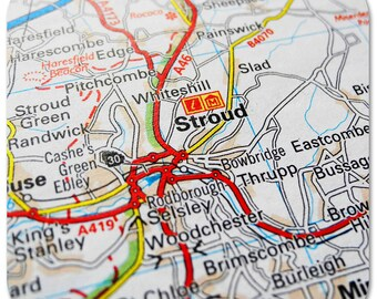 Stroud Map Coasters