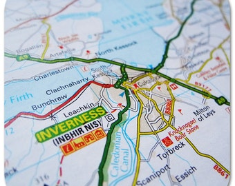 Inverness Map Coasters