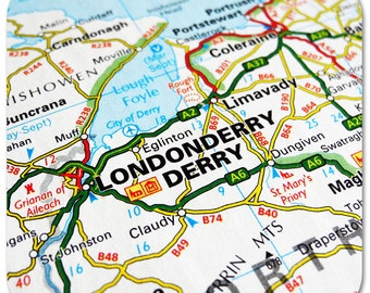 Londonderry Map Coasters