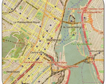 Montreal Vintage Map Coasters