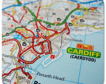 Cardiff Map Coasters