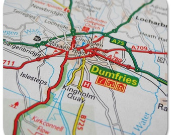 Dumfries Map Coasters