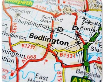 Bedlington Map Coasters