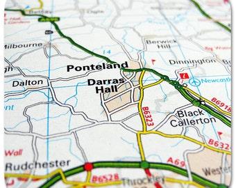 Ponteland Map Coasters