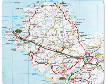 Anglesey Map Coasters