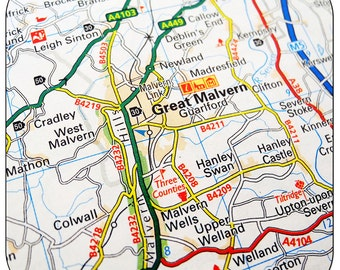 Great Malvern Map Coasters