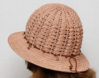 Sun Hat with charms Crochet hat Summer Hat Womens Beach Hat Womens Hats Crochet Sun Brim Hat Beach Hat wide brim hat Boho hat Boho style