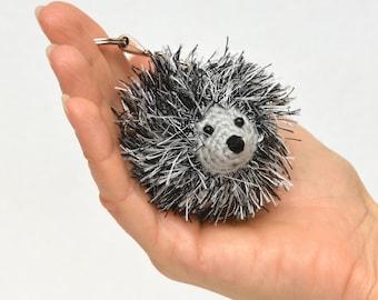 Crochet hedgehog keychain kids gift for Girlfriend gift for her keyring bag charm backpack charm Plush toy Kids Stuff Animal pet Amigurumi