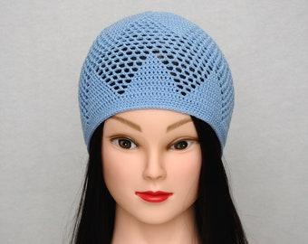 Blauer Hut Häkelspitze Spitze Hut Häkeln Mütze Spitze Mütze Etsy