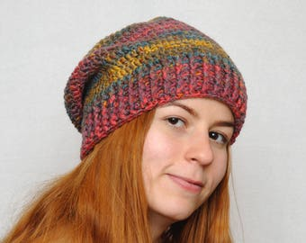 Travel gift Winter Hat Womens hats Slouchy beanie Chunky crochet Womens  Gift Wife gift for wife gift for friend gift for her MeetBestKnit 16cf933853a