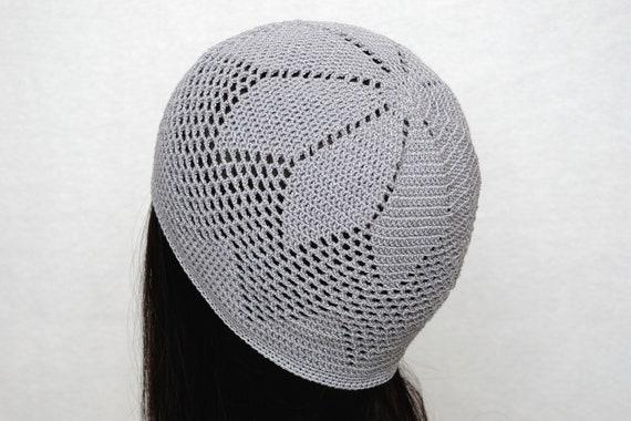 Häkeln Hut grau Sonne Hut Damen Mütze Sommer Hut Stretch | Etsy