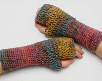 Coworker gift Fingerless Gloves Arm warmers Wrist warmers Hand warmers Womens Crochet Gloves Winter Gift for Wife Gift Gloves for women