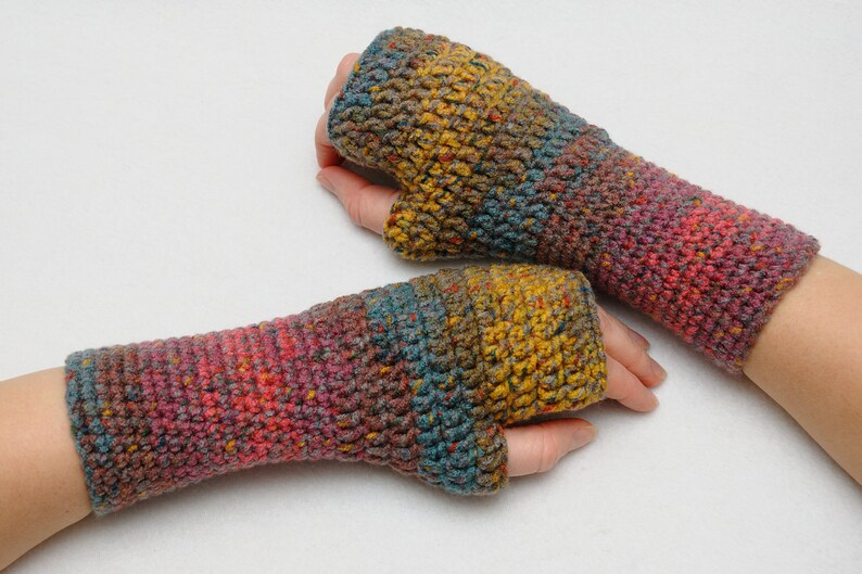 Coworker gift Fingerless Gloves Arm warmers Wrist warmers Hand image 0