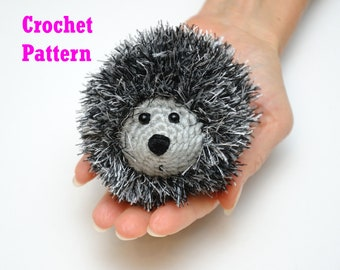 Crochet Hedgehog Pattern PDF Crochet Amigurumi Realistic Toy Stuffed Animal Pattern Digital Download kids toys plush fur yarn MeetBestKnit