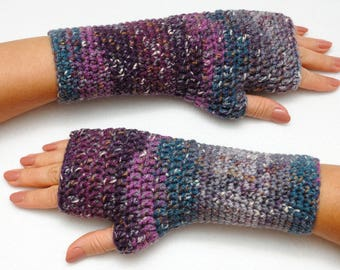 Outdoors gift Crochet fingerless gloves Hand warmers Knit mitts mittens Winter gloves Sister gift Hostess gift Hipster gift Best friend gift