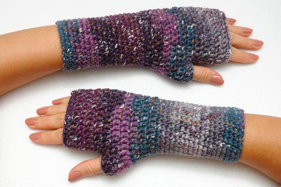 Buitenshuis Gift Haak Vingerloze Handschoenen Hand Warmers Etsy