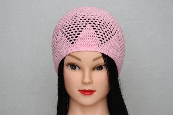 Rosa Hut Schädel Hut häkeln Rosa Mütze häkeln Stretch Mütze   Etsy